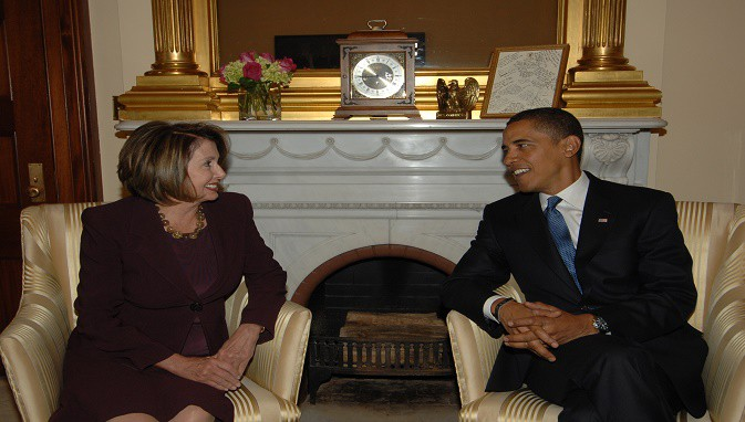 Nancy Pelosi meeting with President elect Barack Obama 2
